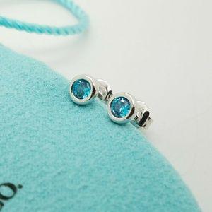 Tiffany & Co Aquamarine by the yard earrings